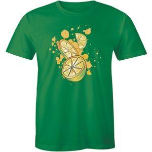 3D Lemon Calamansi Pieces Fruit Juice Mens T-shirt